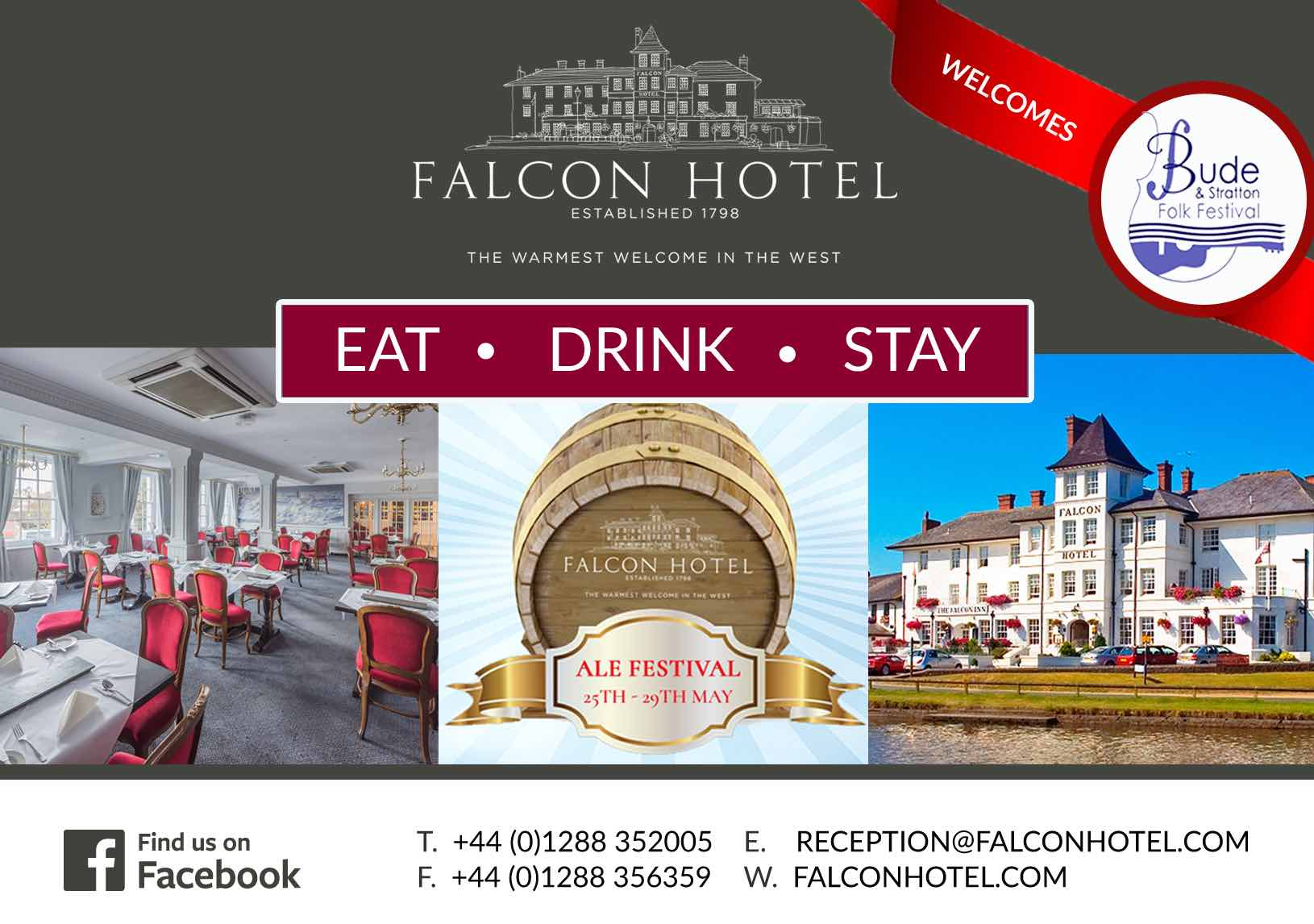 Small ad for the Falcon Hotel, Bude