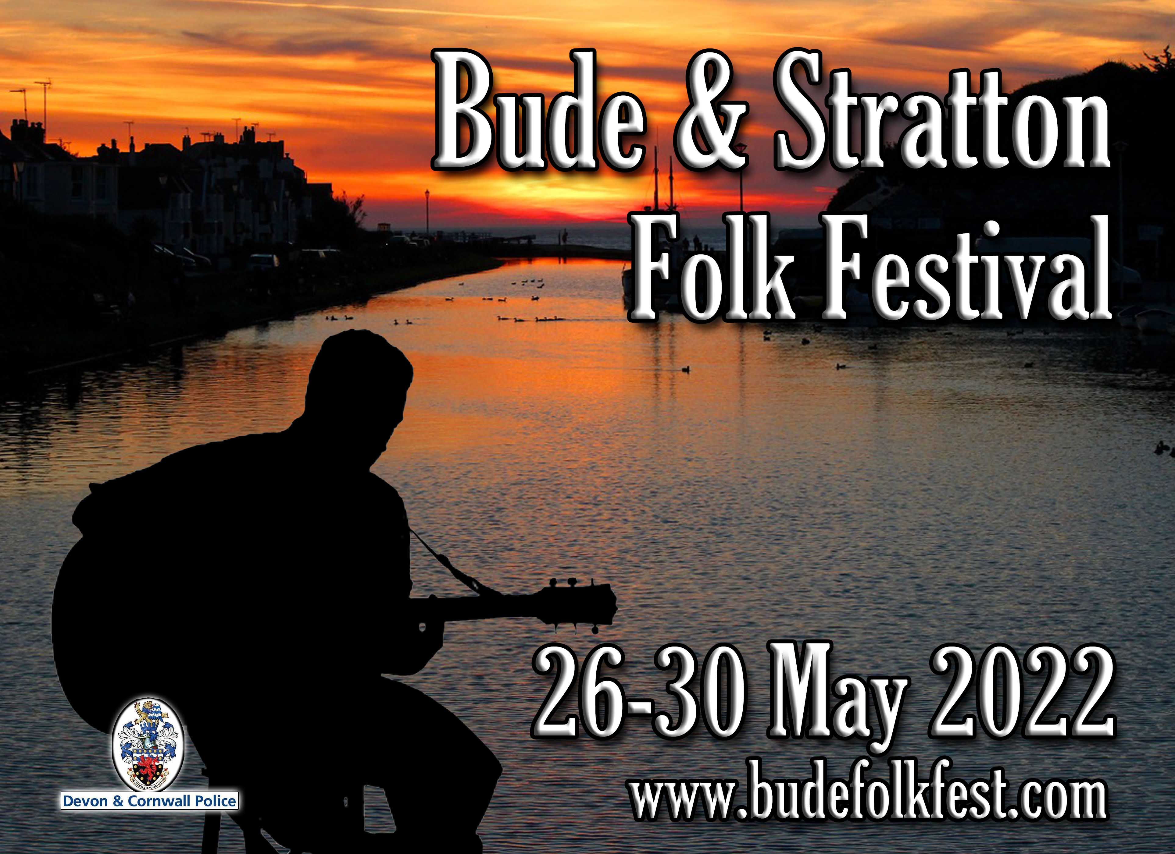 Image of Bude Canal with festival date 22-25 May 2020